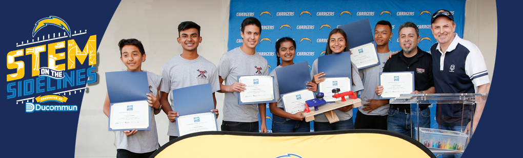 Ducommun, LA Chargers and UCI Team Up for STEM on the Sidelines™